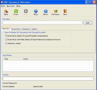 Restaurer le mot  passe de PDF, restitution mot de passe PDF, ouvrir le PDF chiffré