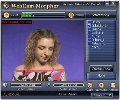 Web camera effects, virtual camera, simulate webcam, camera simulator